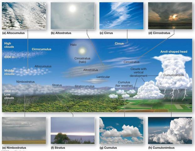 Tipos de Nubes (según OMM)