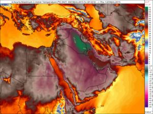 Ola de Calor en Oriente Medio (30/7/2015).
