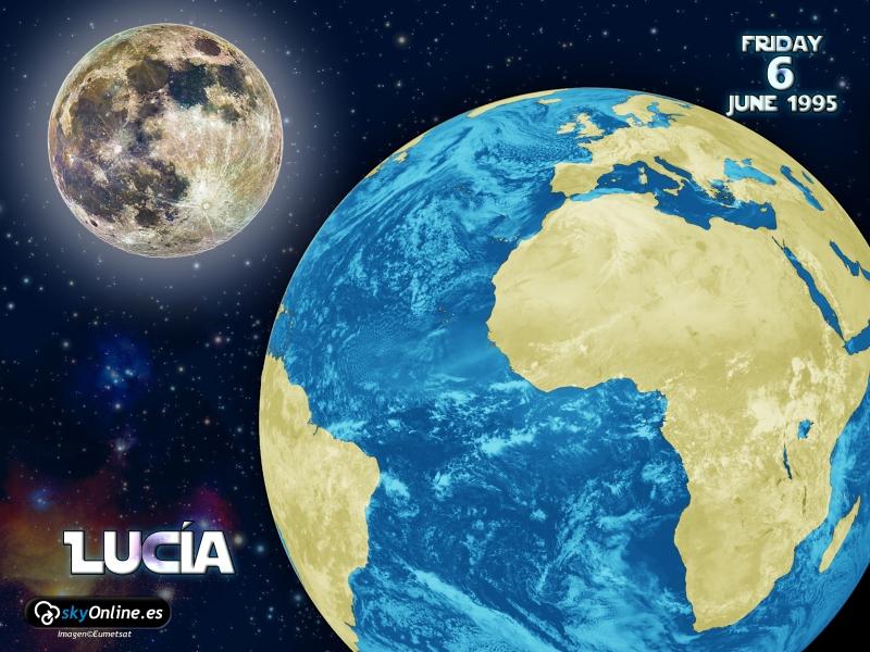 Vista espacial de la Tierra y la Luna. Imágenes reales de satélite meteosat (solo desde apróx.1982 hasta hoy).