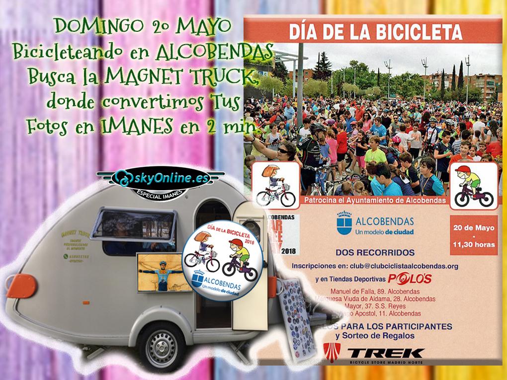 IMANES PERSONALIZADOS en el Día de la Bicicleta de Alcobendas.